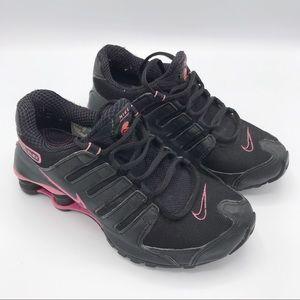 cheaper 25ca1 2775b Nike Air Shox Black   Pink Sneakers Size 7.5